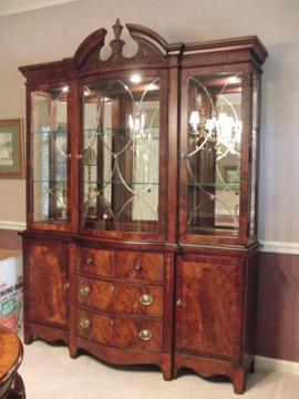 High Quality $699 Beautiful Mahogany China Cabinet And Base