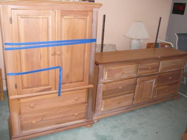 piece queensize bedroom set with armoire dresser and nightstands