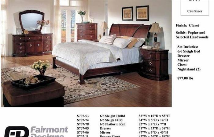 6pc king bedroom set by fairmont design reidsville nc for sale in danville virginia for Fairmont designs bedroom furniture sets