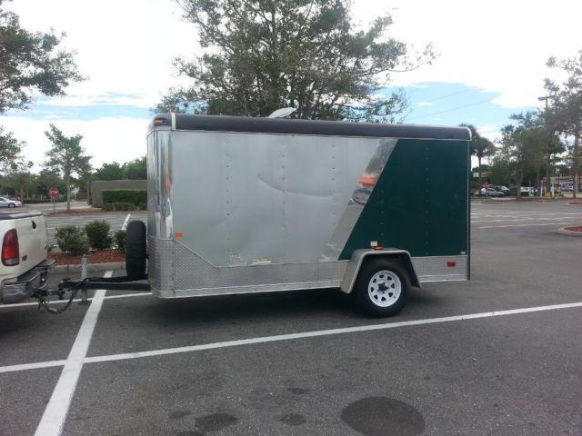 6x12' Cargo Enclosed Utility Trailer Ramp Door for Sale in ...