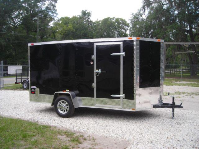 6x12 New Enclosed Trailer In Stock Quot Motorcycle Package