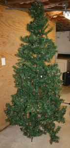 7.5 Ft. Prelit Christmas Tree - $35 (Blacksburg)