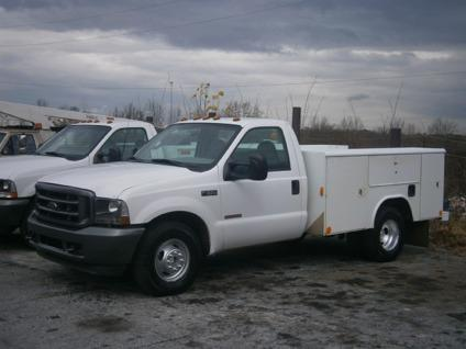 obo 2003 ford f350xl utility service truck dually dual diesel for sale in atlanta georgia. Black Bedroom Furniture Sets. Home Design Ideas