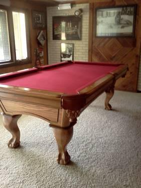 7 Amf Playmaster Ltd Red Felt Pool Table For Sale In Mooresville Indiana Classified