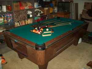 7' foot slate coin operated bar pool table - $700