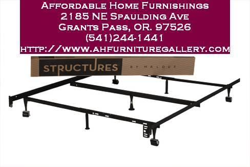 7 leg metal frame new in box adjustable for full queen for Affordable furniture grants pass oregon