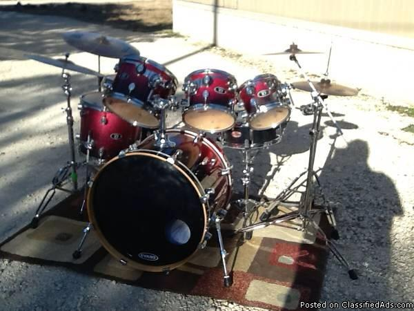 7 pc pdp x7 drum set for sale in kerrville texas classified. Black Bedroom Furniture Sets. Home Design Ideas