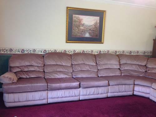 7 Piece Mauve Sectional Benchcraft For Sale In Kingsport