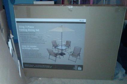 7 piece Patio set brand new