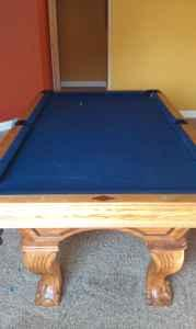 7 Pool Table Solid Oak - $1150 Dubuque