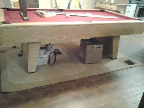 7' slate pool table