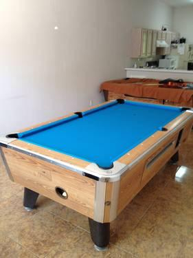 7' ZD 6 Valley Pool Table With Simonis 860 - Very Fast