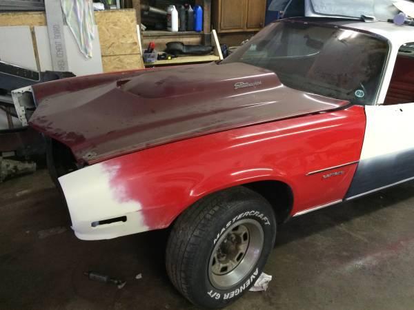 70-77 camaro fenders and fiberglass hood - $250