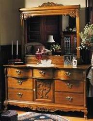 Lexington victorian sampler collection triple dresser for - Used queen bedroom sets for sale ...