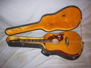 70s Vintage Ventura Bruno V 14 12 String Acoustic Guitar Obo
