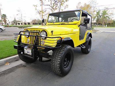 72 jeep cj5 v8 4bbl frame off restored monster for sale in irvine california classified. Black Bedroom Furniture Sets. Home Design Ideas