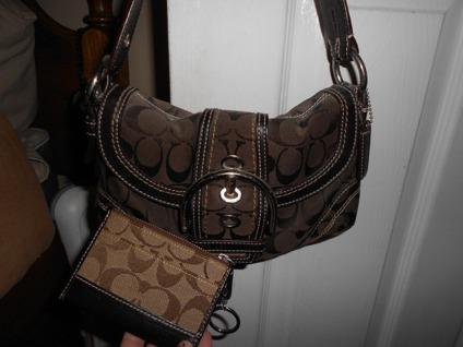 $75 Brown Coach Bag and Coin Purse