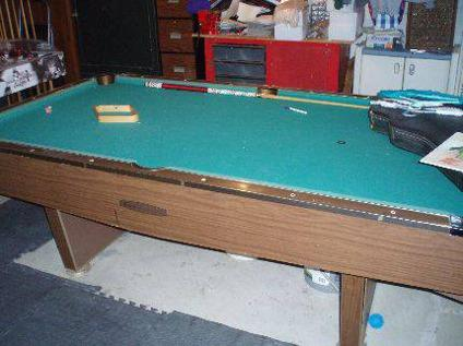 $75 Frederick Willys Wooden Pool Table