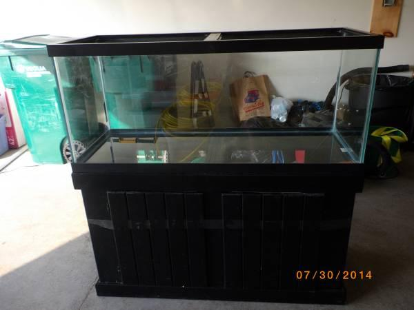 75 Gallon Aquarium with Wood Stand - $275