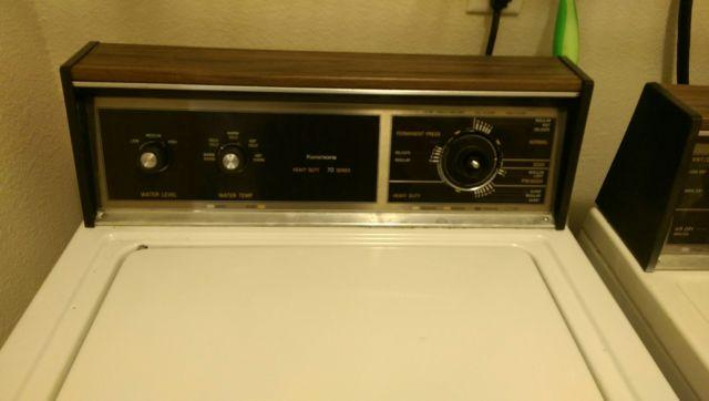 75 Kenmore Washer Dryer Combo Heavy Duty 70 Series For