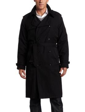 $75 OBO London Fog Mens Bogart Double Breasted Belted Trench Coat