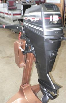 Great shape 1994 mercury force 15hp outboard boat motor for Outboard motors for sale in wisconsin