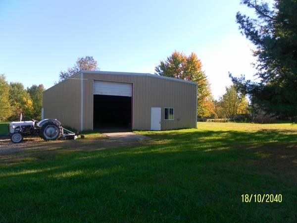 Commercial auto repair building plus 5 acres land for for Build a house for 75000
