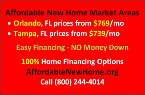 $769/mo New Homes in Orlando, FL New Construction - NO