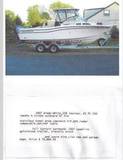 $79,900, 2007 Grady-White 258 Journey