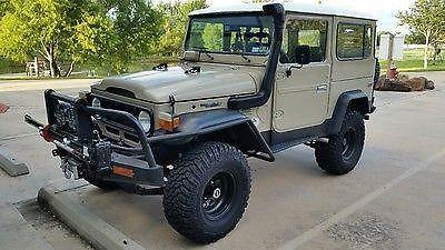 All American Chevy >> 79 FJ40 Toyota Land Cruiser Tan w/ Black Rhino Lined Sides & Fenders for Sale in Fondren, Texas ...