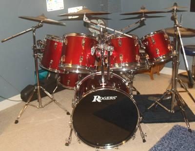 7pc rogers drum set w double bass pedal zildjian cymbals nice for sale in garden valley. Black Bedroom Furniture Sets. Home Design Ideas