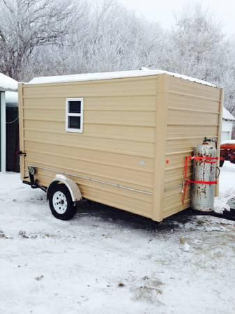 7x12 Fish House/camper - for Sale in Browerville, Minnesota ... Fish House Double Door on