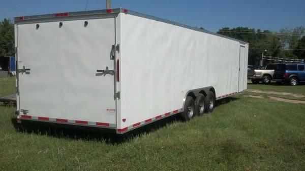 8.5 x 34 TTA3 Enclosed Trailer  2 Car Hauler
