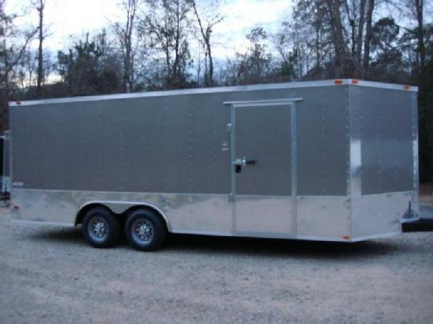 X 20ft Enclosed Freedom Car Amp Amp Cargo Trailer In Pewter 24in Atp Trim For Sale In