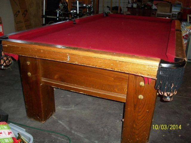 8 Antique A E Schmidt Slate Pool Table For Sale In