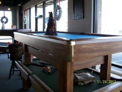 8' BRAND NEW CLOSEOUT BRUNSWICK SLATE POOL TABLE For Sale