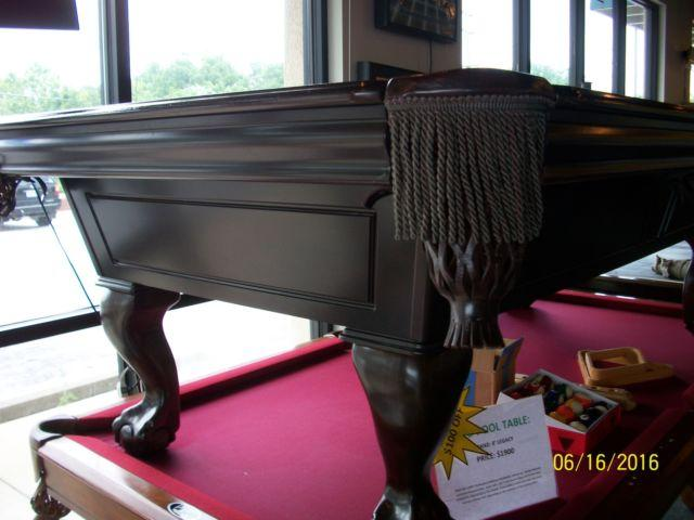 8 Fischer Duke Slate Pool Table By C L Bailey For Sale