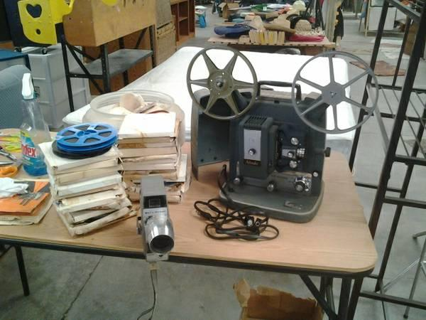 8 MM Movie Projecter With Movies - $95