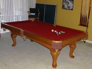 Oak Brunswick Billiard Pool Table Accessories Wesley - Brunswick chateau pool table