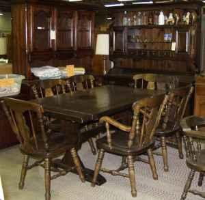 8 piece dark pine dining room set kutztown for sale in for Furniture reading pa