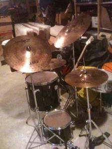 8 Piece Drum Set Zildjian Symbols Pearl Double Bass Pedal