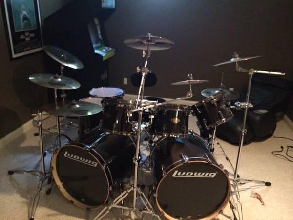 8 Piece Ludwig Epic Drum Kit For Sale In Columbus Ohio