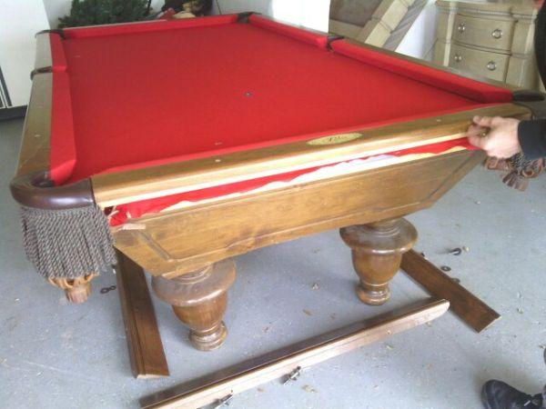 8 Rebco Pool Table New Simonis Cloth New Rubbers Free