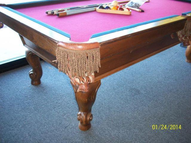 8' SLATE POOL TABLE