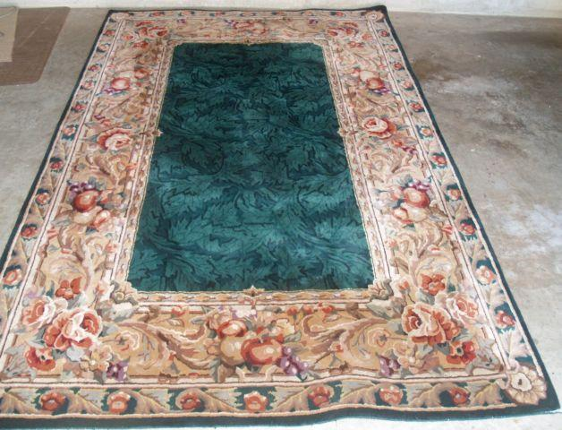 8 x 10 area rug multi colored thick pile green leaf