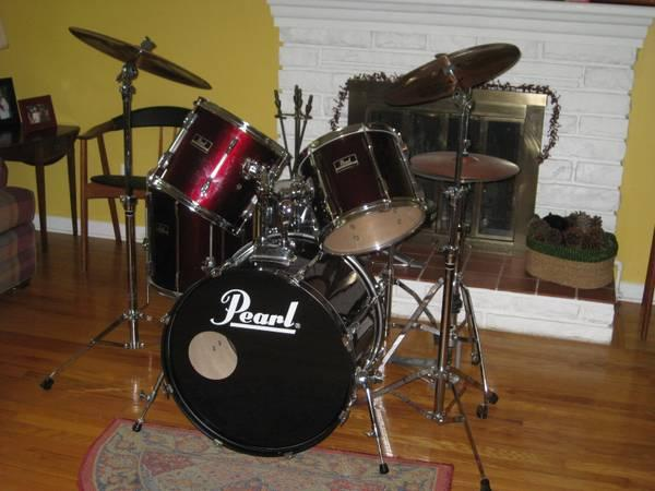 80s PEARL EXPORT DRUM SET  HDWR.SABIAN CYMBALSBUY FOR X-MAS NOW - $525