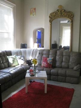 $800 OBO Italian Leather Sectional with Recliners and Pull Out Bed ...
