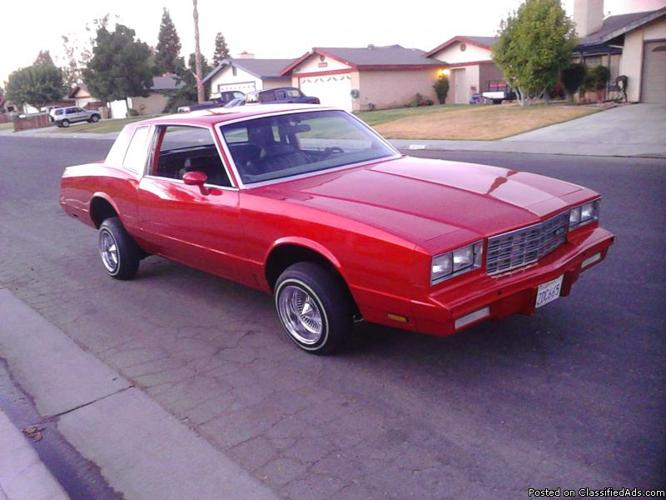 82 monte carlo lowrider for sale in bakersfield california classified. Black Bedroom Furniture Sets. Home Design Ideas