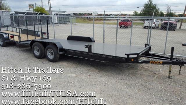 83 x 20 STEEL Floor Car Hauler Trailer Black 5200