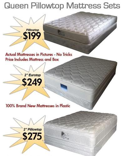 ⃟ Queen Pillowtouch Mattress Set Only Deliv
